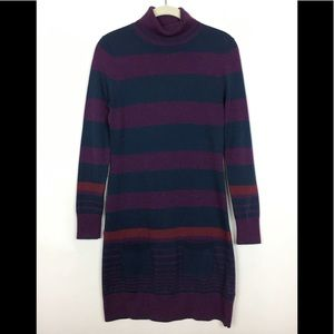 Brooks Brothers Turtleneck Striped Sweater Dress